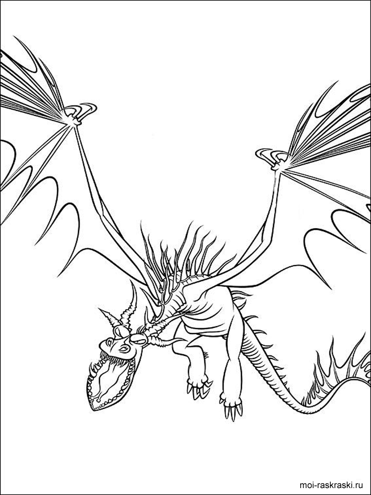 how to train your dragon coloring pages 4