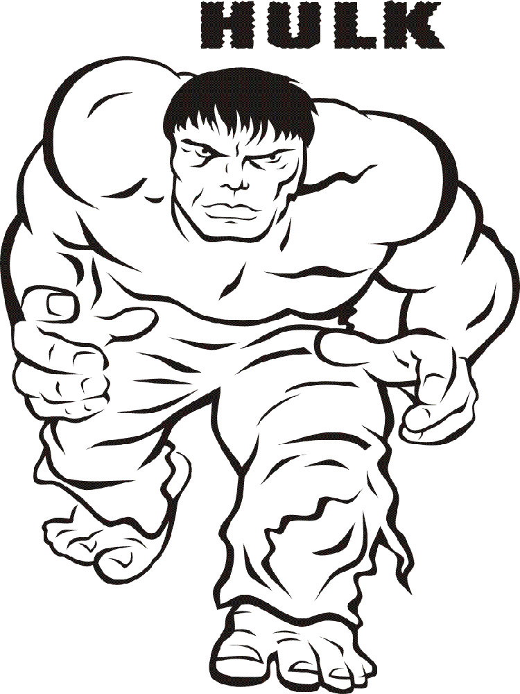 Hulk coloring pages. Download and print Hulk coloring pages