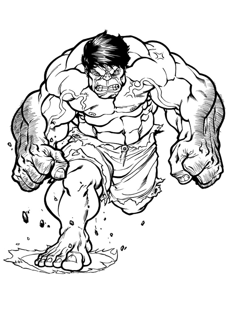 Hulk coloring pages Download and print Hulk coloring pages