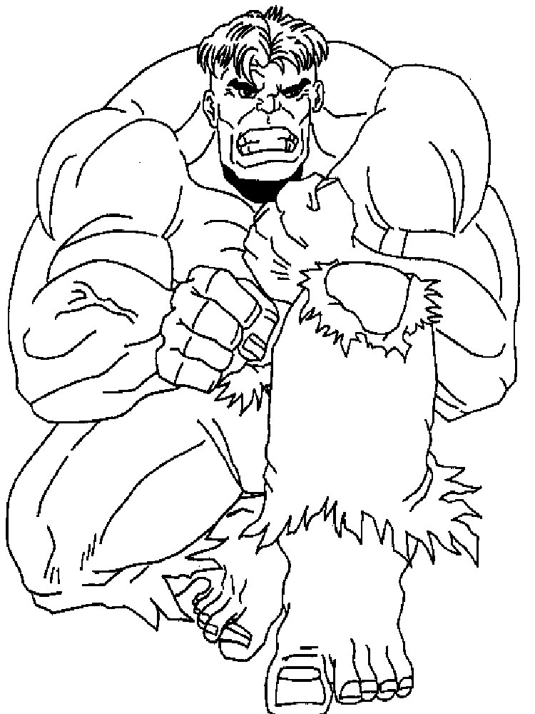 Hulk coloring pages Download and