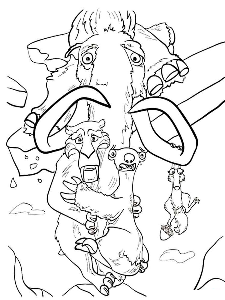 ice age animals coloring pages - photo#11