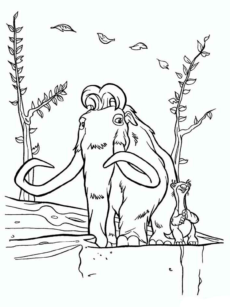 ice age coloring pages 26 - Ice Age Characters Coloring Pages