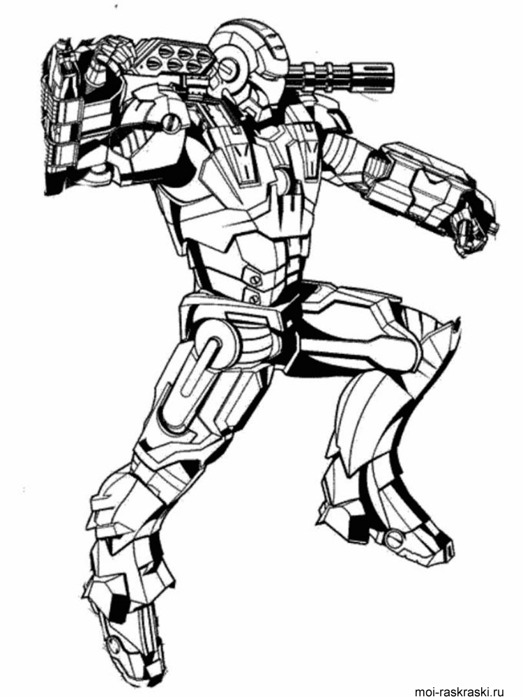 iron man coloring pages 12