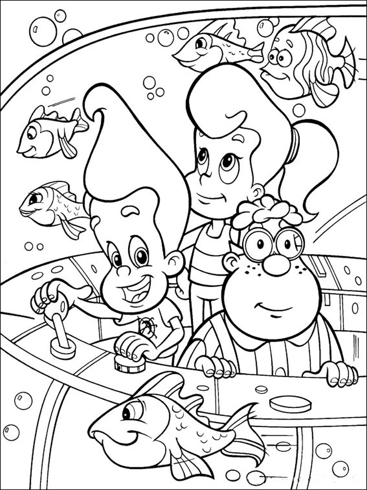 Jimmy Neutron coloring pages. Download and print Jimmy ...