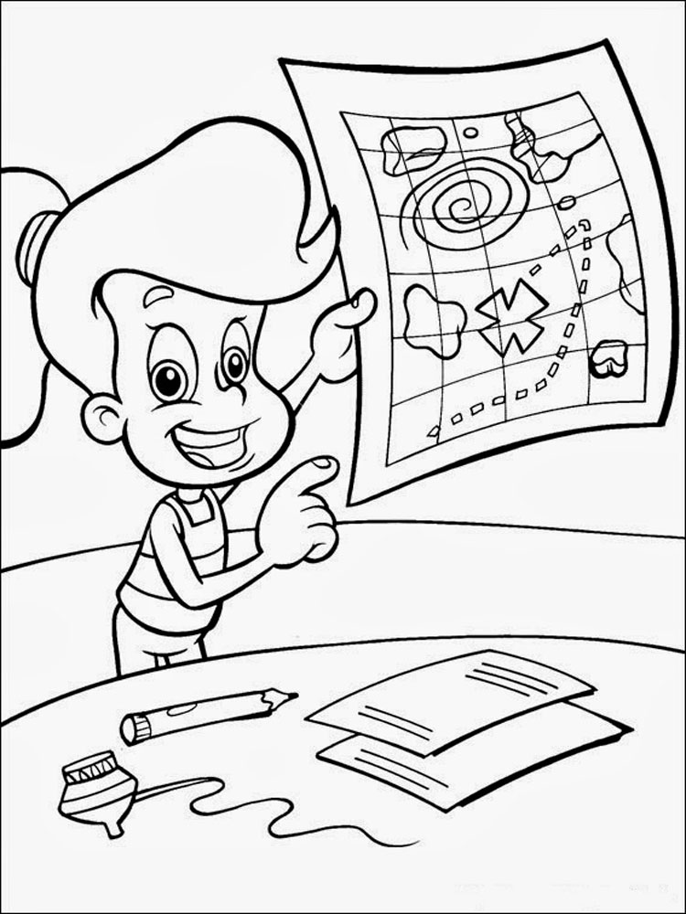 ... Jimmy-Neutron-coloring-pages-11 ...