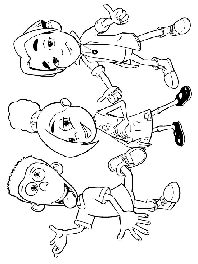 Jimmy Neutron Coloring Pages Download And Print Jimmy