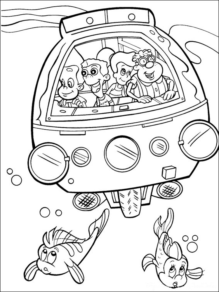 Jimmy Neutron coloring pages Download