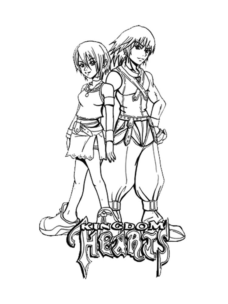 Free Kingdom Hearts coloring pages. Download and print ...