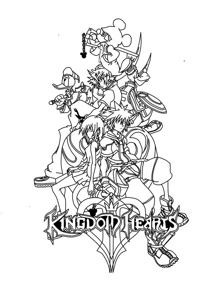 Free Kingdom Hearts Coloring Pages Download And Print