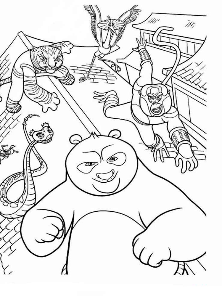 Tai Lung Coloring Pages Sketch Coloring Page