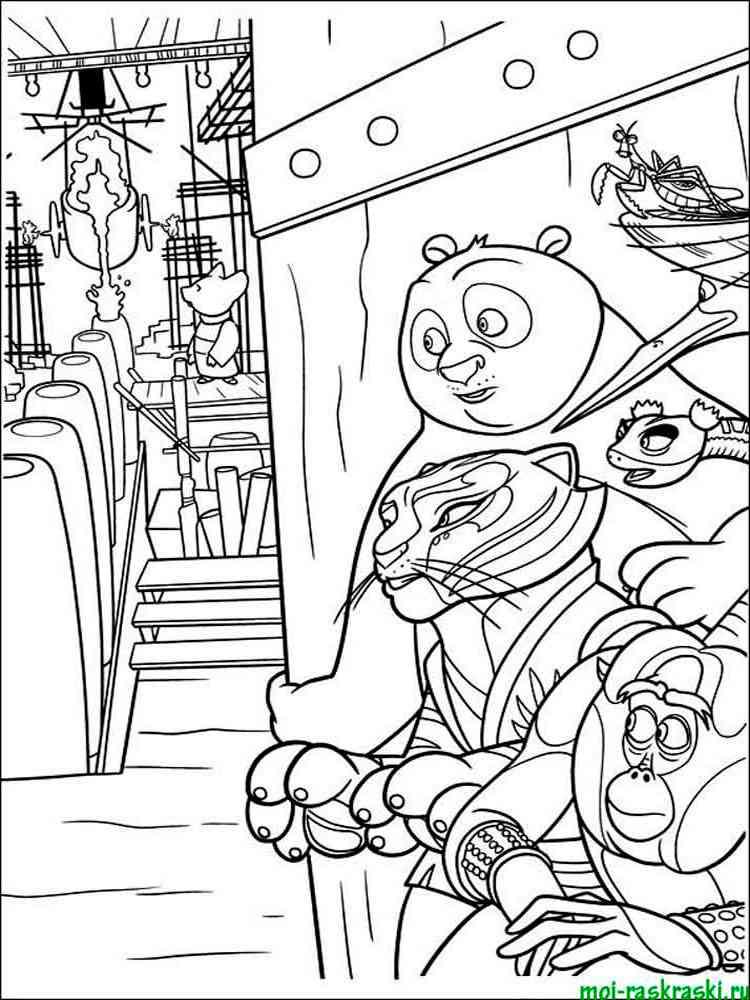 Free Printable Kung Fu Panda coloring