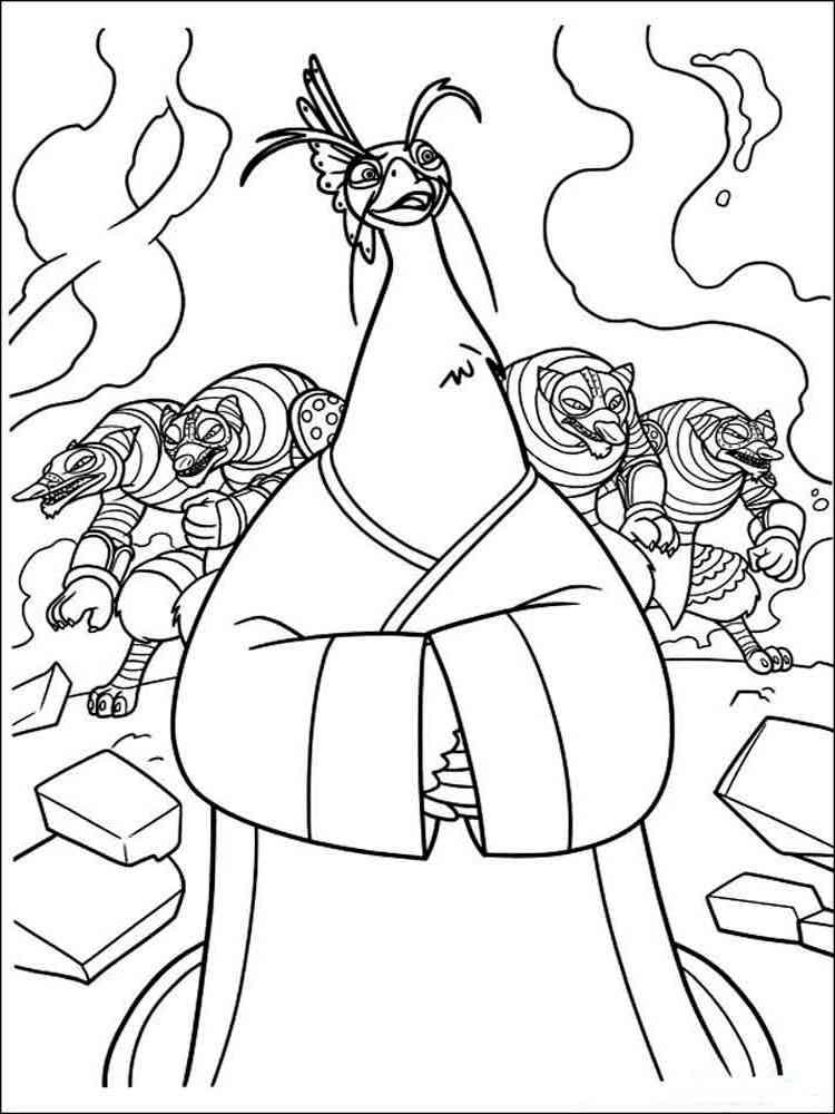 free printable kung fu panda coloring pages