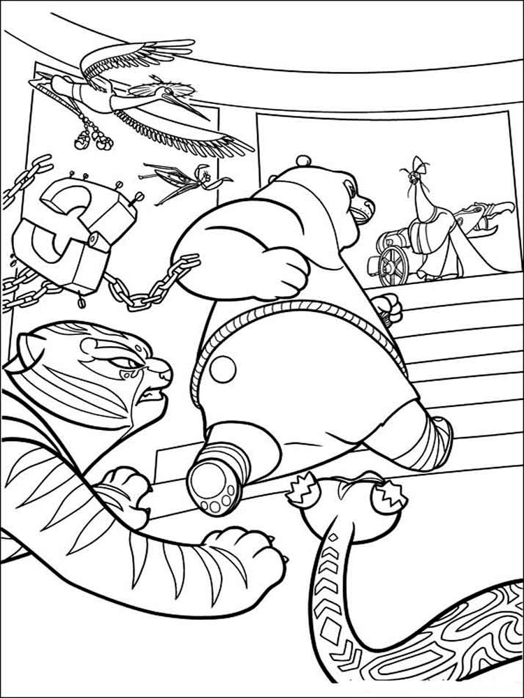 Free printable kung fu panda coloring pages for Coloring pages panda