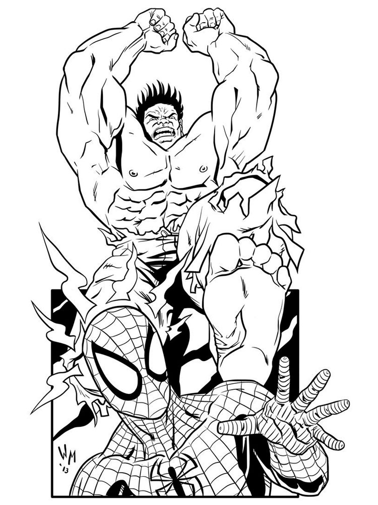 Free Marvel Superhero coloring pages. Download and print ...