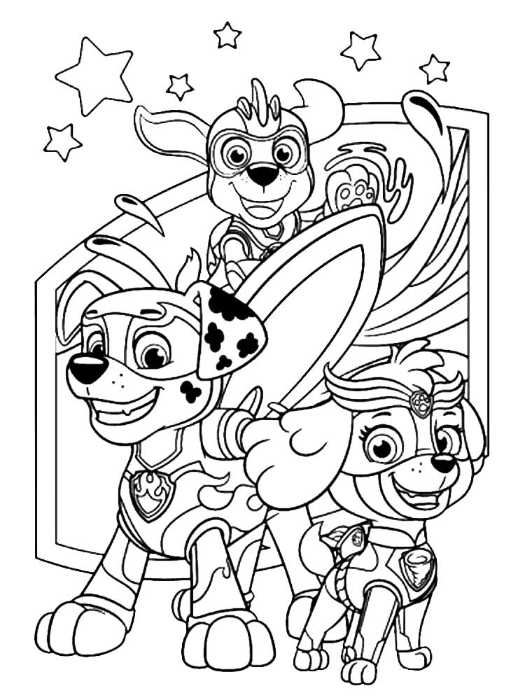 free paw patrol mighty pups coloring pages download and
