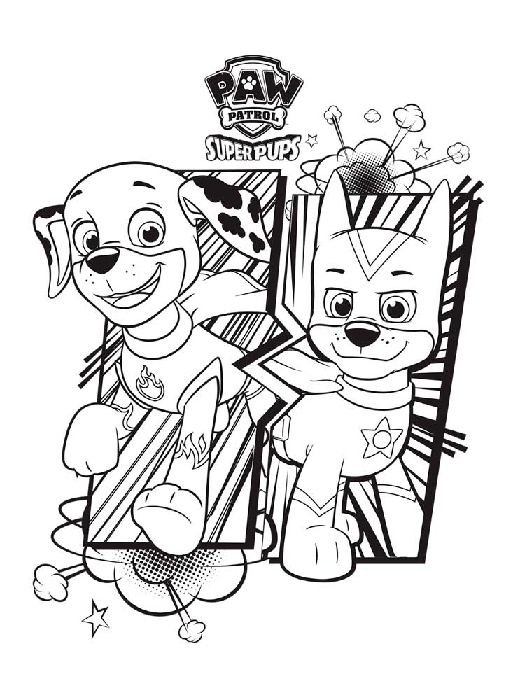 Free Paw Patrol Mighty Pups coloring pages. Download and ...