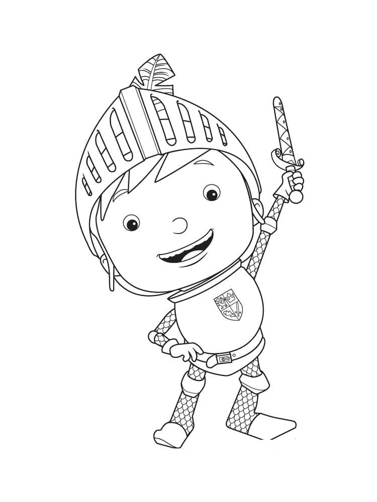 Free Mike The Knight Coloring Pages Download And Print Mike The Knight Coloring Pages