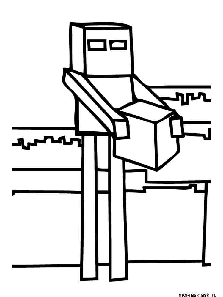 minecraft characters colouring pages pdf