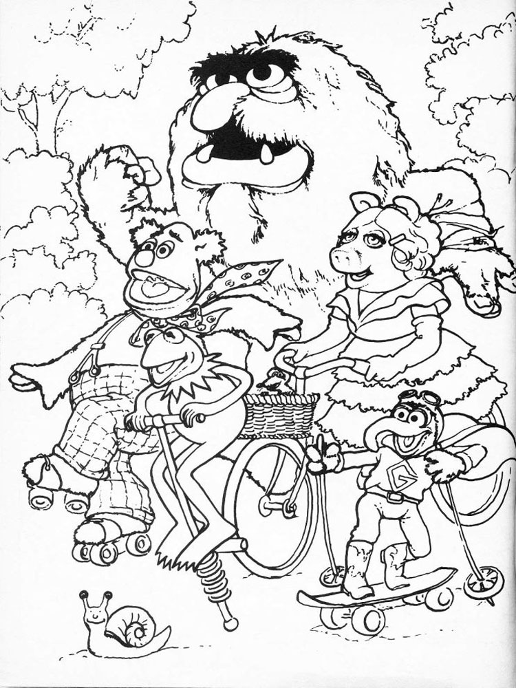 free online muppet coloring pages - photo#4
