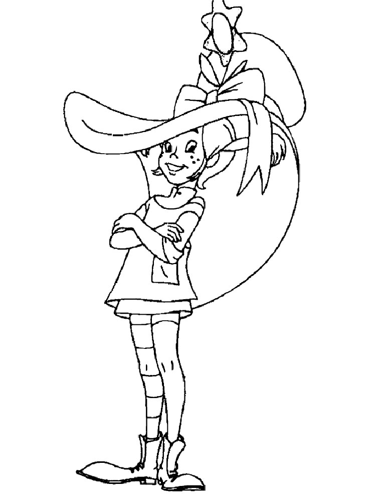 Pippi Longstocking Coloring Pages Download And Print