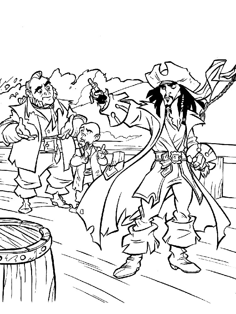 Pirates of the Caribbean coloring pages Download and