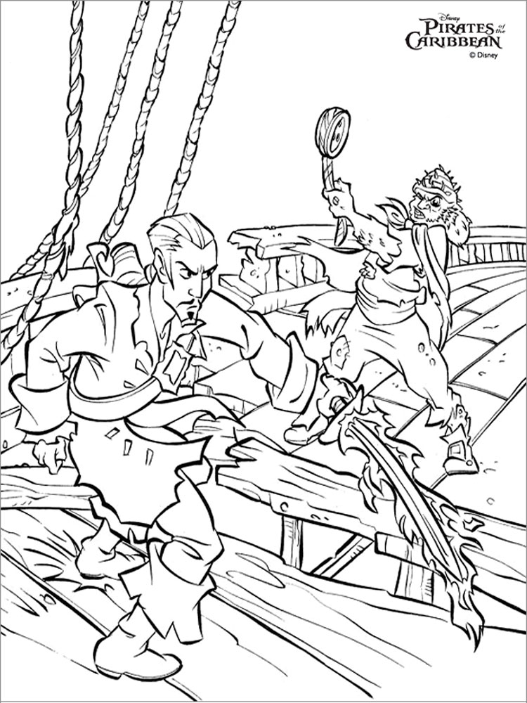 Pirates of the Caribbean coloring