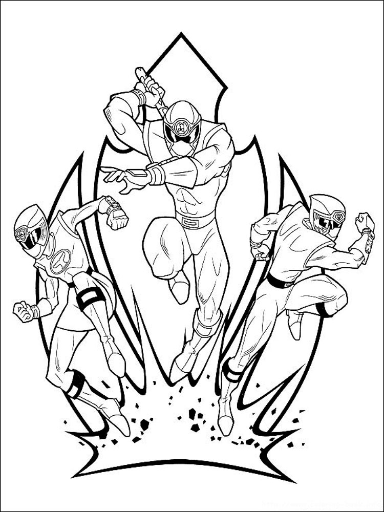 power rangers coloring pages 11