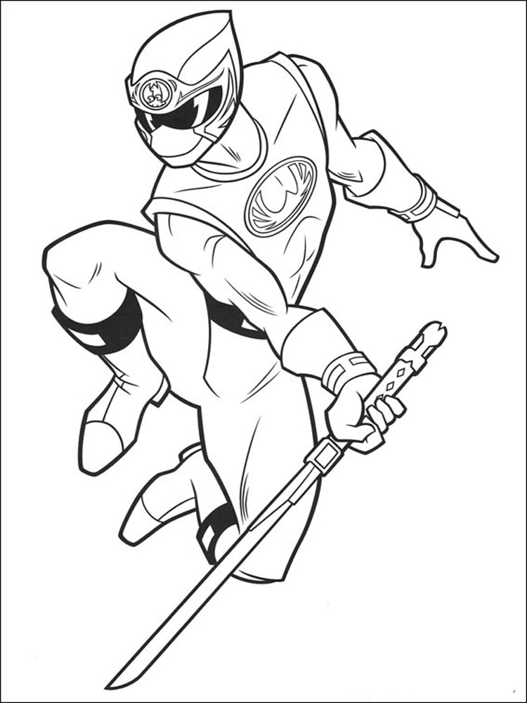 power rangers coloring pages 16 - Pink Power Rangers Coloring Pages