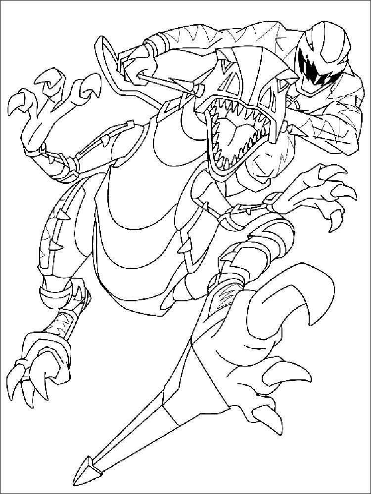 power rangers coloring pages 18