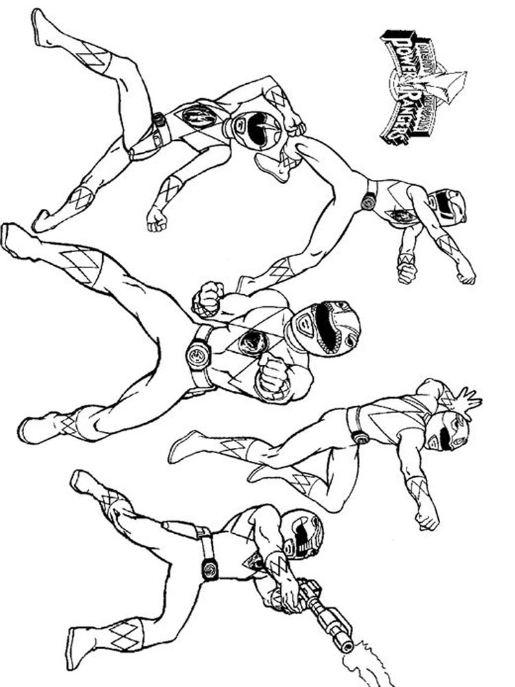 Power Rangers coloring pages Download and print Power Rangers