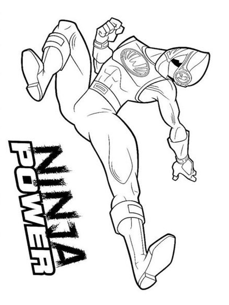 Power Rangers Coloring Pages 9