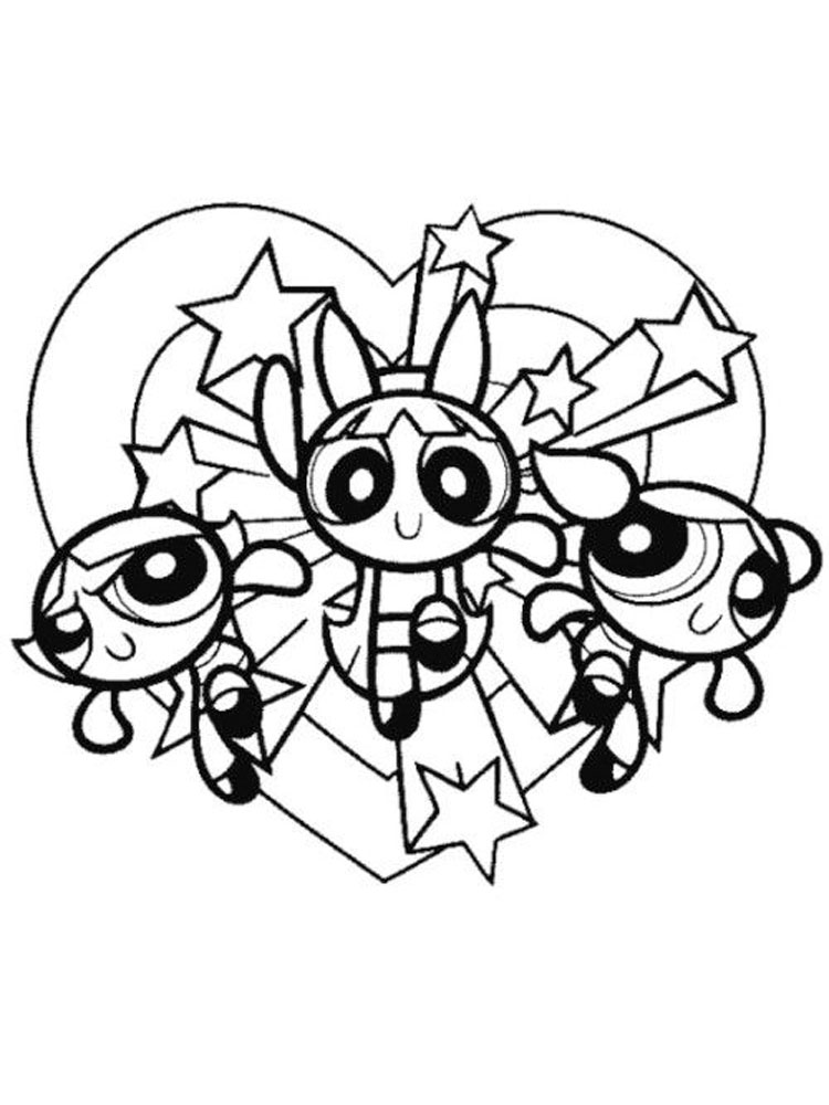 Powerpuff Girls Coloring Pages Download And Print