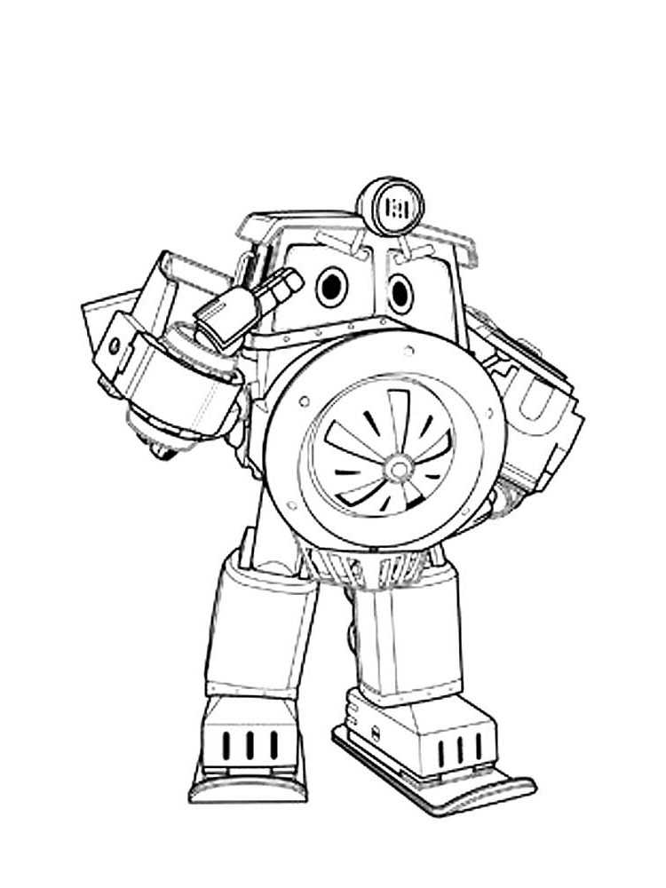 Free Robot Trains coloring pages. Download and print Robot ...