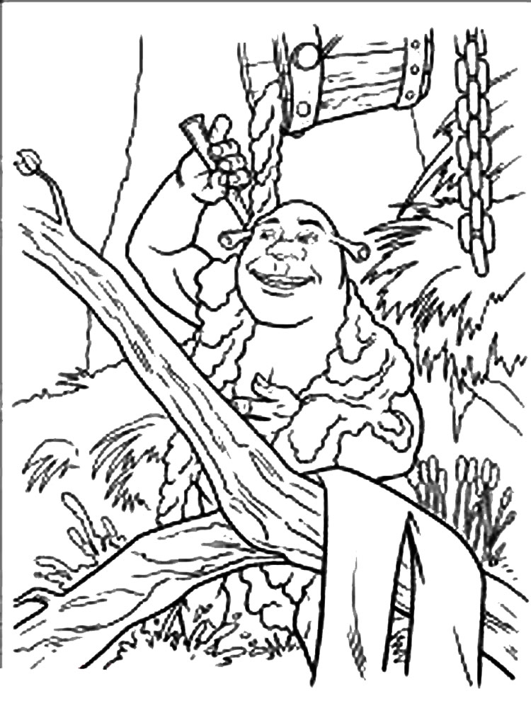 Shrek coloring pages Download and print Shrek coloring pages