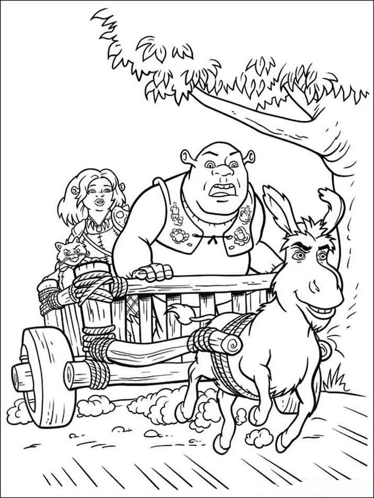 shrek coloring pages 16