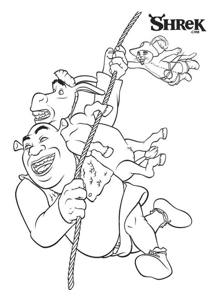 Shrek coloring pages download and print shrek coloring pages for Coloring pages shrek