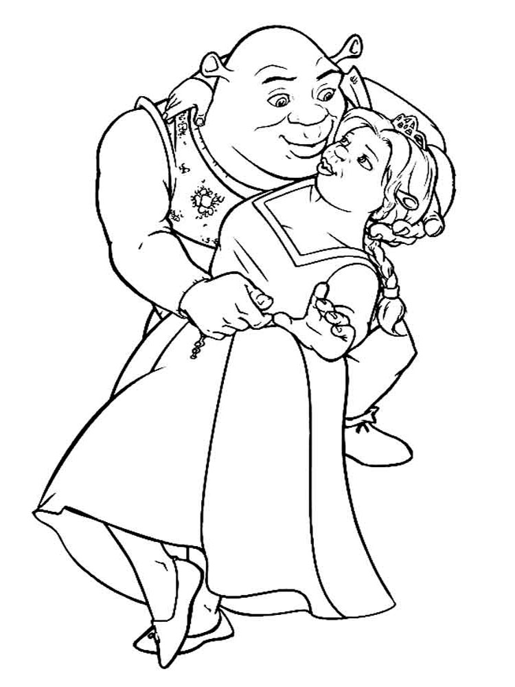 Shrek coloring pages. Download and print Shrek coloring pages