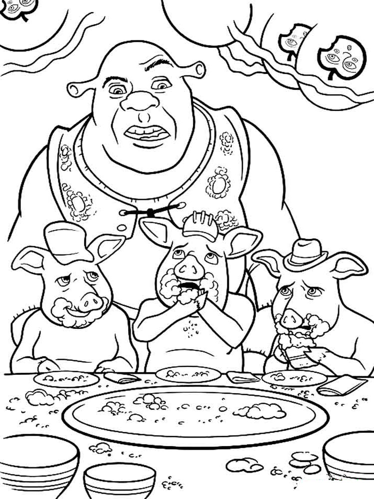 shrek forever after coloring pages - photo#11