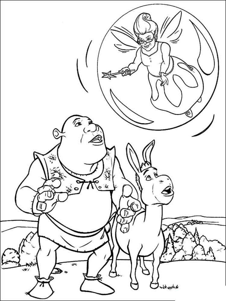 Shrek coloring pages Download