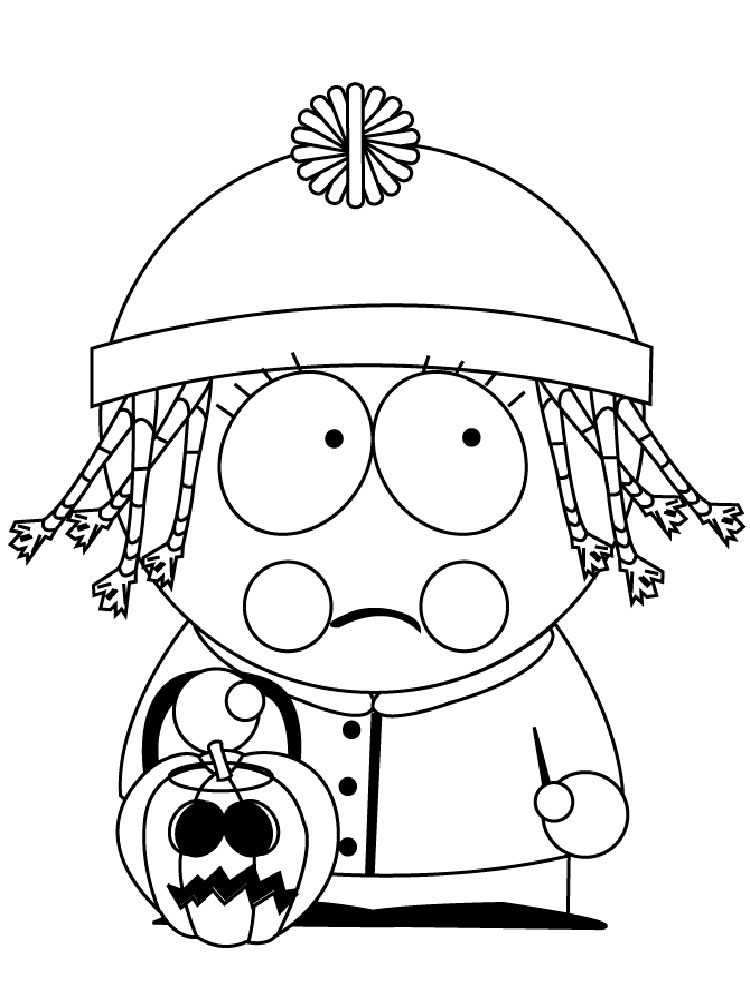 coloring pages of south park - photo#6