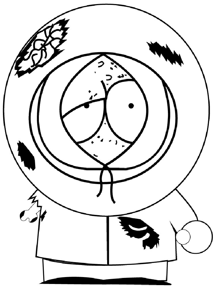 South Park coloring pages. Download and print South Park coloring pages