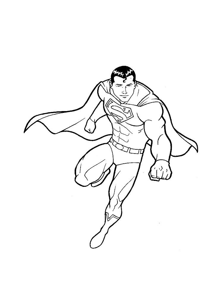 Superman Coloring Pages Download And Print Superman