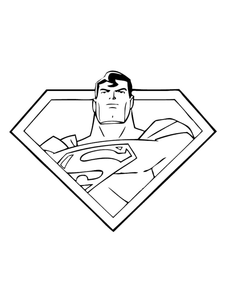 Superman Coloring Pages 12
