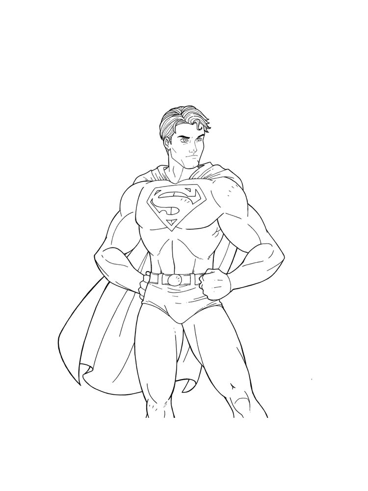 Superman coloring pages download and print superman for Super man coloring page