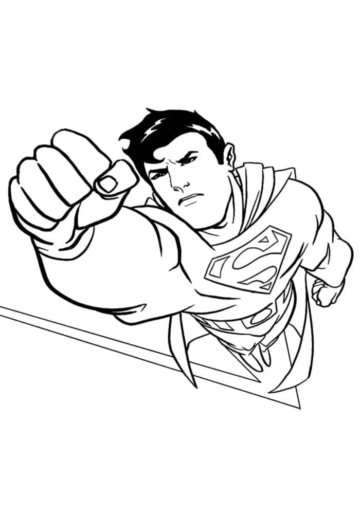 Superman coloring pages Download and print Superman coloring pages