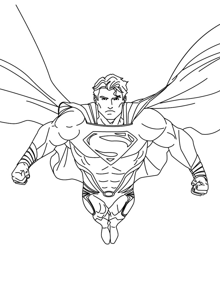 superman coloring pages 3 - Superman Coloring Pages