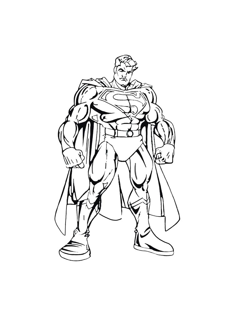 Superman Coloring Pages 7