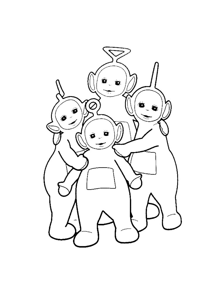 teletubbies coloring pages all kids work