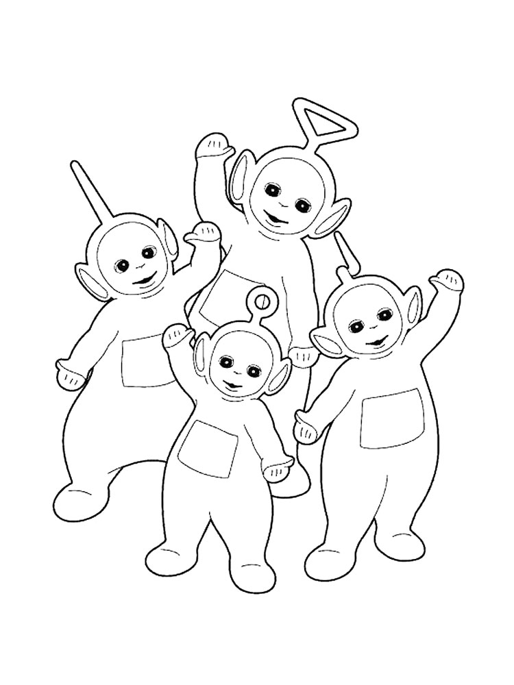 dipsy new hat in the teletubbies coloring page color luna