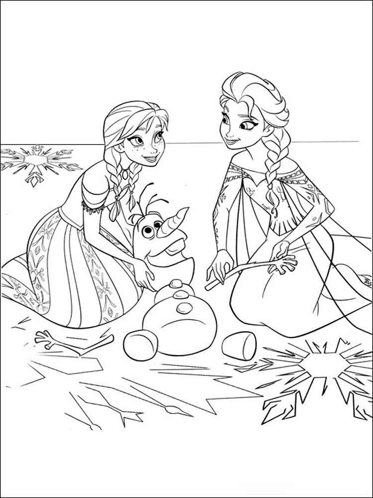 frozen cartoon characters coloring pages - photo#17
